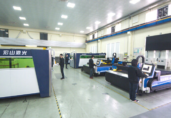 Training Area for Sheet Metal Cutting Machine