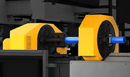 In the battle of tube material processing, how do they do it?